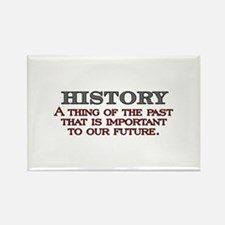 History A Thing of the Past Rectangle Magnet