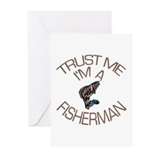 Trust Me I'm a Fisherman Greeting Cards (Pk of 10)