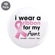 "Aunt Breast Cancer 3.5"" Button (10 pack)"
