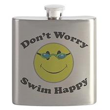Don't Worry Swim Happy Flask