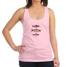 Stacked Trout Racerback Tank Top