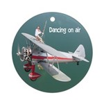 Silver Wings Wingwalker Ornament (Round)