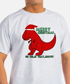 merry christmas cute dinosaur T-Shirt