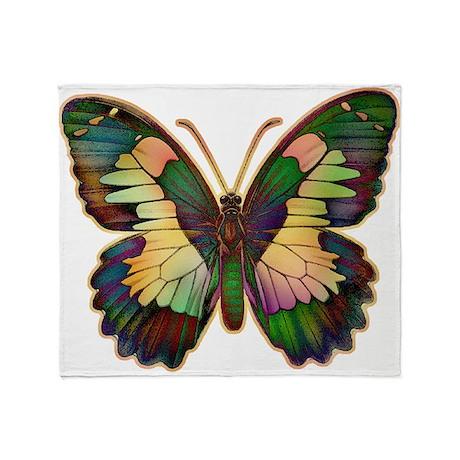 Luminous Butterfly Throw Blanket
