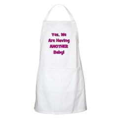 Having ANOTHER Baby BBQ Apron