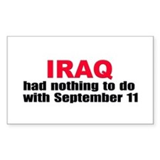 No Iraq-9/11 Connection Rectangle Decal