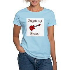 Pregnancy Rocks! Women's Pink T-Shirt