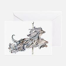 Afghan Hound Carousel II Greeting Cards (Package o
