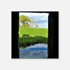 """Cute Scotland window Square Sticker 3"""" x 3"""""""