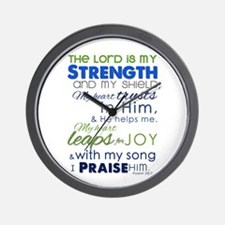My Strength & My Shield Wall Clock