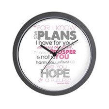 Plans to Prosper You Wall Clock