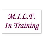 M.I.L.F. In Training Rectangle Sticker