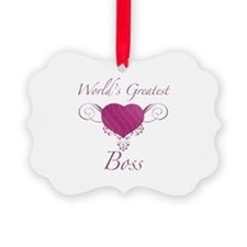 World's Greatest Boss (Heart) Ornament