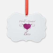 World's Greatest Boss (Heart) Ornament