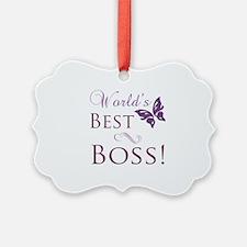 World's Best Boss Ornament