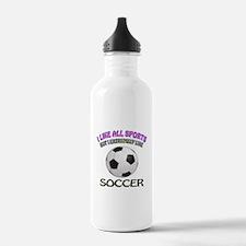 Soccer Design Water Bottle
