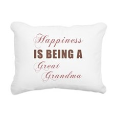Great Grandma (Happiness) Rectangular Canvas Pillo