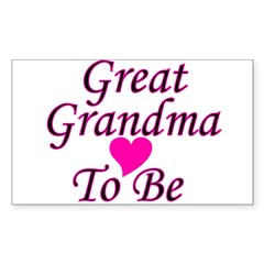 Great Grandma To Be Rectangle Decal