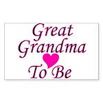 Great Grandma To Be Rectangle Sticker