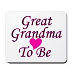 Great Grandma To Be Mousepad