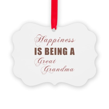 Great Grandma (Happiness) Picture Ornament