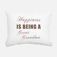 Great Grandma (Happiness) Rectangular Canvas Pillo
