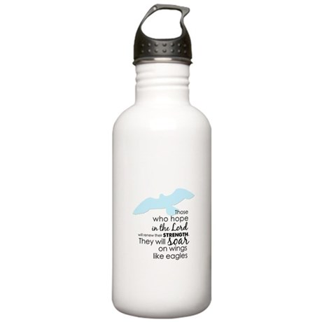 Wings Like Eagles Stainless Water Bottle