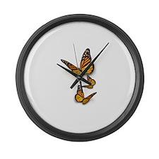 Monarch Butterlies Large Wall Clock