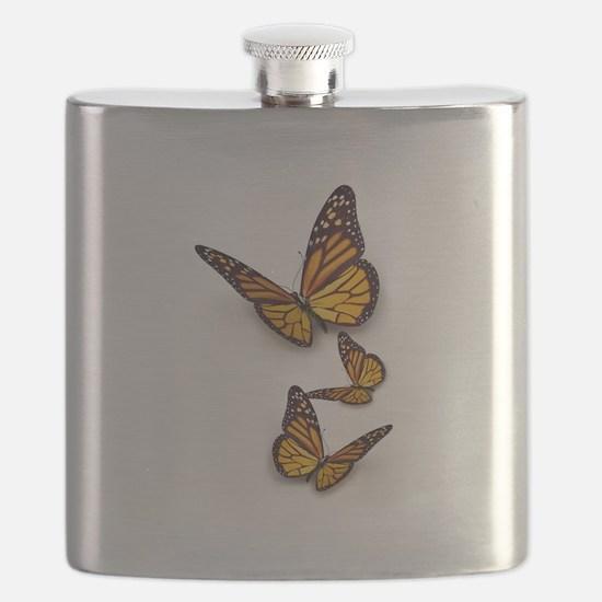 Monarch Butterlies Flask