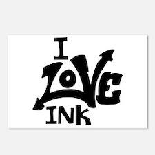 I Love Ink Postcards (Package of 8)