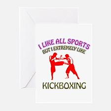 Kickboxing Design Greeting Cards (Pk of 20)
