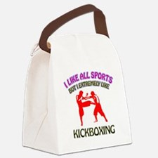 Kickboxing Design Canvas Lunch Bag
