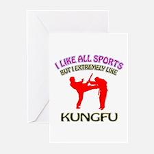 Kung Fu Design Greeting Cards (Pk of 10)