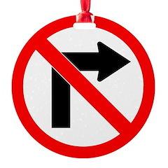 No Right Turn no border.psd Ornament