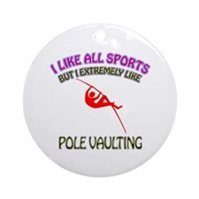 Pole Vaulting Design Ornament (Round)