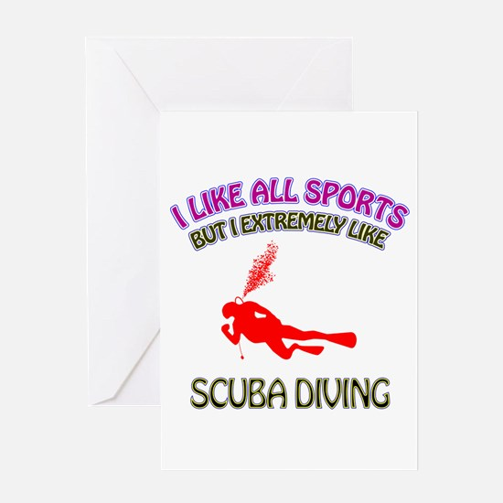 Scuba Diving Design Greeting Card