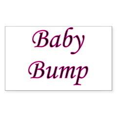 Baby Bump Rectangle Decal