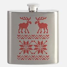 Moose Sweater Christmas Pattern Flask