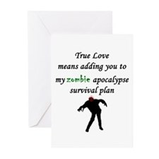 True Love Zombie Greeting Cards (Pk of 20)