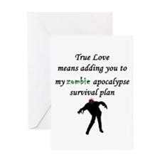 True Love Zombie Greeting Card