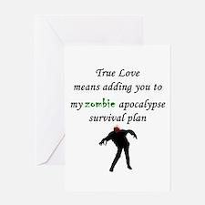 True Love Zombie Greeting Card