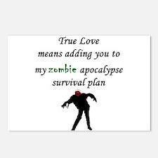 True Love Zombie Postcards (Package of 8)
