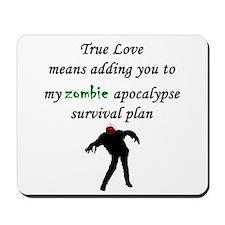 True Love Zombie Mousepad