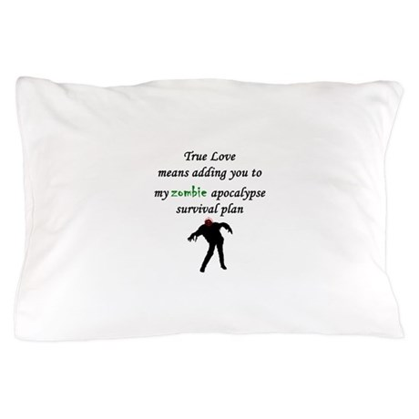 True Love Zombie Pillow Case