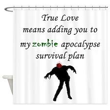 True Love Zombie Shower Curtain