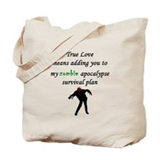 True Love Zombie Tote Bag