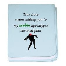 True Love Zombie baby blanket