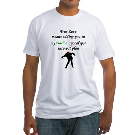 True Love Zombie Fitted T-Shirt