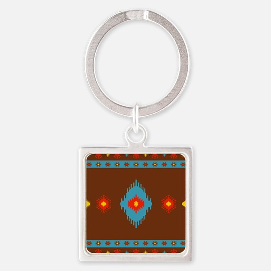Native American Indian geometric vintage Keychains
