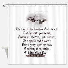 Edgar Allan Poe Breath.png Shower Curtain